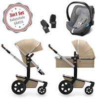 Joolz Day 3 Kinderwagen Set 3in1 Earth Camel Beige mit Gratis Aton5 Babyschale