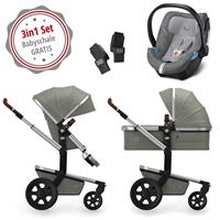Joolz Day 3 Kinderwagen Set 3in1 Earth Elephant Grey mit Gratis Aton5 Babyschale
