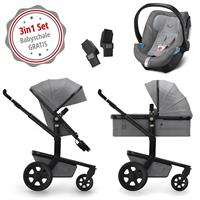 Joolz Day 3 Kinderwagen Set 3in1 Studio Graphite Grey mit Gratis Aton5 Babyschale