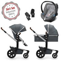 Joolz Day 3 Kinderwagen Set 3in1 Earth Hippo Grey mit Gratis Aton5 Babyschale