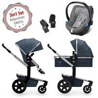 Joolz Day3 Kinderwagen-Set 3in1 Midnight Blue mit Gratis Aton 5 Babyschale