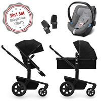 Joolz Day 3 Kinderwagen Set 3in1 Quadro Nero mit Gratis Aton5 Babyschale