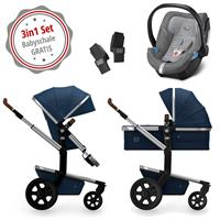 Joolz Day 3 Kinderwagen Set 3in1 Earth Parrot Blue mit Gratis Aton5 Babyschale