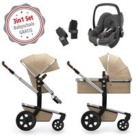 Joolz Day 3 Kinderwagen Set 3in1 Earth Camel Beige mit Gratis Pebble Babyschale