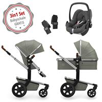 Joolz Day 3 Kinderwagen Set 3in1 Earth Elephant Grey mit Gratis Pebble Babyschale