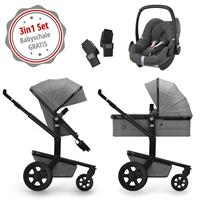 Joolz Day3 3in1 Kinderwagen Set Graphite Grey komplett ausgestattet ab Geburt