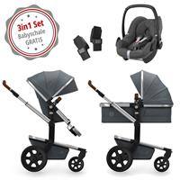 Joolz Day 3 Kinderwagen Set 3in1 Earth Hippo Grey mit Gratis Pebble Babyschale