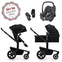 Joolz Day 3 Kinderwagen Set 3in1 Quadro Nero mit Gratis Pebble Babyschale