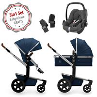 Joolz Day 3 Kinderwagen Set 3in1 Earth Parrot Blue mit Gratis Pebble Babyschale