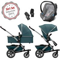 Joolz Geo 2 Kinderwagen Set 3in1 Quadro Blu mit Gratis Aton5 Babyschale