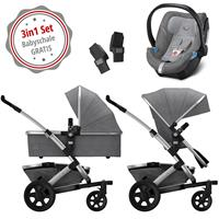 Joolz Geo 2 Kinderwagen Set 3in1 Studio Graphite mit Gratis Aton5 Babyschale