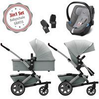 Joolz Geo 2 Kinderwagen Set 3in1 Quadro Grigio mit Gratis Aton5 Babyschale