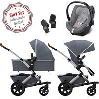 Joolz Geo 2 Kinderwagen Set 3in1 Studio Gris mit Gratis Aton5 Babyschale