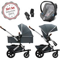 Joolz Geo 2 Kinderwagen Set 3in1 Earth Hippo Grey mit Gratis Aton5 Babyschale