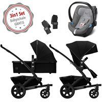 Joolz Geo 2 Kinderwagen Set 3in1 Studio Noir mit Gratis Aton5 Babyschale