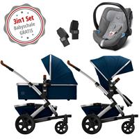Joolz Geo 2 Kinderwagen Set 3in1 Earth Parrot Blue mit Gratis Aton5 Babyschale