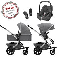 Joolz Geo 2 Kinderwagen Set 3in1 Studio Graphite mit Gratis Pebble Babyschale