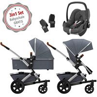 Joolz Geo 2 Kinderwagen Set 3in1 Studio Gris mit Gratis Pebble Babyschale