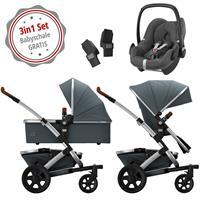 Joolz Geo 2 Kinderwagen Set 3in1 Earth Hippo Grey mit Gratis Pebble Babyschale