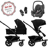 Joolz Geo 2 Kinderwagen Set 3in1 Studio Noir mit Gratis Pebble Babyschale