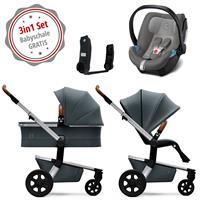 Joolz Hub Kinderwagen Set 3in1 Earth Hippo Grey mit Gratis Aton5 Babyschale