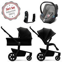 Joolz Hub Kinderwagen Set 3in1 Quadro Nero mit Gratis Aton5 Babyschale