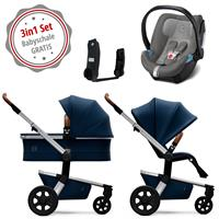 Joolz Hub Kinderwagen Set 3in1 Earth Parrot Blue mit Gratis Aton5 Babyschale