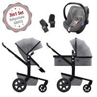 Joolz Day 3 Kinderwagen-Set Superior Grey mit GRATIS Babyschale Cybex Aton 5