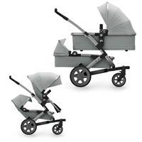 JOOLZ Zwillingswagen Geschwisterwagen Kinderwagen GEO2 Quadro Edition Grigio