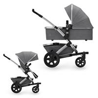 JOOLZ Geo2 Pram with Frame, upper Carry Cot, upper Seat Unit & Basket Studio Edition Graphite