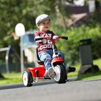 kettler dreirad happytrike racing rot weiss mit jungen Ansichtsdetail 03