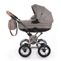 knorr baby Classic Premium Kombikinderwagen im Retro Design Grau 4250341312249 Kinderwagen Seitenans