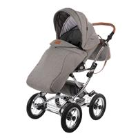 knorr baby Classic Premium Kombikinderwagen im Retro Design Grau 4250341312249 Sportwagen mit Beinde