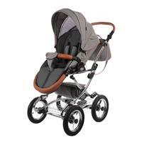 knorr baby Classic Premium Kombikinderwagen im Retro Design Grau 4250341312249 Sportwagen