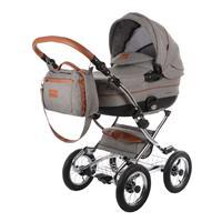 knorr baby Classic Premium Kombikinderwagen im Retro Design Grau 4250341312249