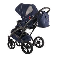 knorr baby Voletto Emotion Kombikinderwagen mit Tragewanne Night Blue 4250341314090 Sportwagen Seite