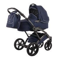 knorr baby Voletto Emotion Kombikinderwagen mit Tragewanne Night Blue 4250341314090 mit Babywanne
