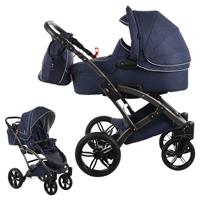 knorr baby Voletto Emotion Kombikinderwagen mit Tragewanne Night Blue