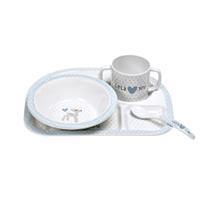 Lässig Kindergeschirr Dish Set Lela Light Blue