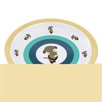 Lässig Kinderteller Dish Plate Melamine/Silicone Wildlife Meerkat