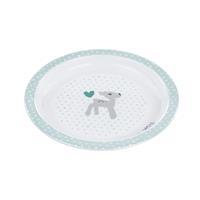 Lässig Kinderteller Dish Plate Melamine/Silicone Lela light mint