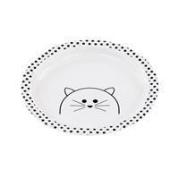 Lässig Kinderteller Dish Plate Melamine/Silicone Little Chums Cat