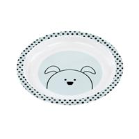 Lässig Kinderteller Dish Plate Melamine/Silicone Little Chums Dog
