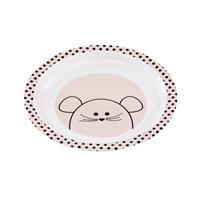 Lässig Kinderteller Dish Plate Melamine/Silicone Little Chums Mouse