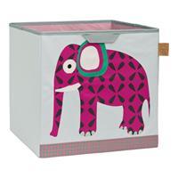 Lässig 4Kids Spielzeug Aufbewahrung Würfelformat Wildlife Elefant