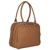 Rückansicht der Wickeltasche Lässig Tender Multizip Bag Cognac