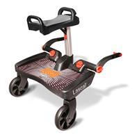 Lascal BuggyBoard für Kinderwagen Maxi+ Schwarz Saddle Grau
