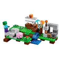 Lego Minecraft Der Eisengolem 21123 Detaillierte Ansicht 02