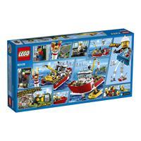 Lego City Feuerwehrschiff 60109 Detailansicht 01