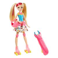 Barbie Video Game Hero Light-Up Skates Barbie Doll DTW17